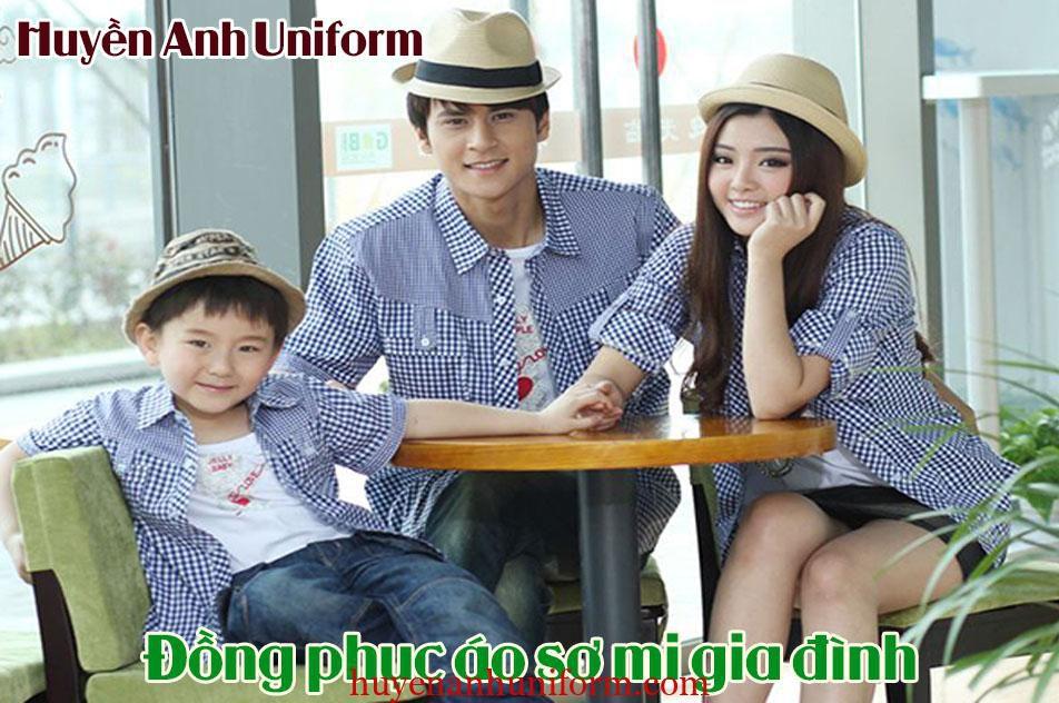 Đồng phục áo sơ mi gia đình 1