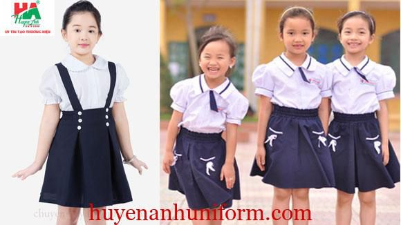 Đồng phục tiểu học cho bé gái đẹp
