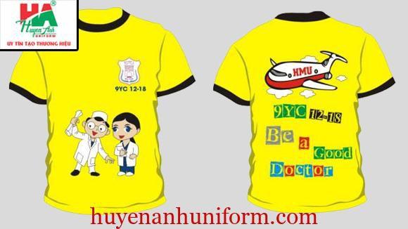 Thiết kế áo lớp theo ngành học điều dưỡng