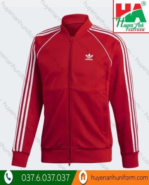 Áo khoác đồng phục adidas màu đỏ