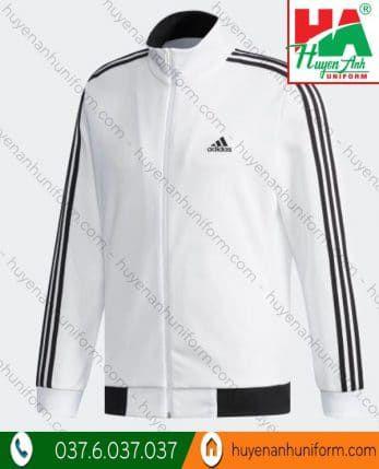 Áo khoác đồng phục adidas màu trắng